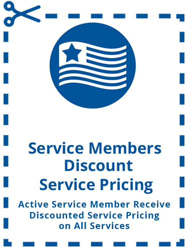 Service Members Discount Pricing